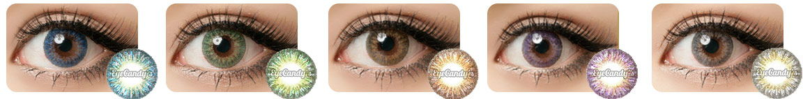 GEO Tri Color eye contact lenses work perfectly for dark brown or black eyes