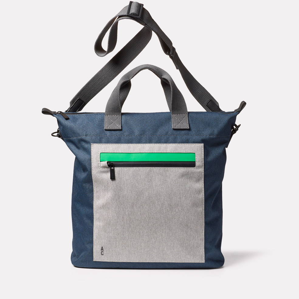 Campo Non Leather Travel Cycle Tote in Navy/Grey