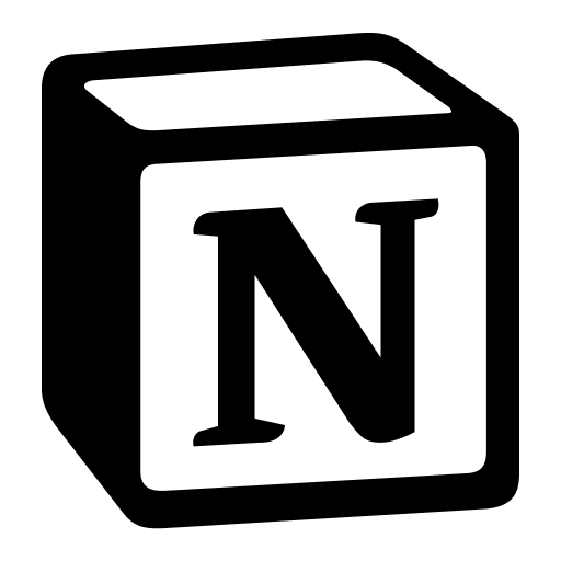 Notion logo no background