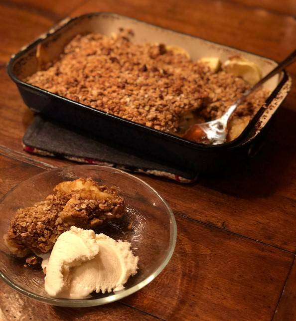 vegan apple crisp recipe
