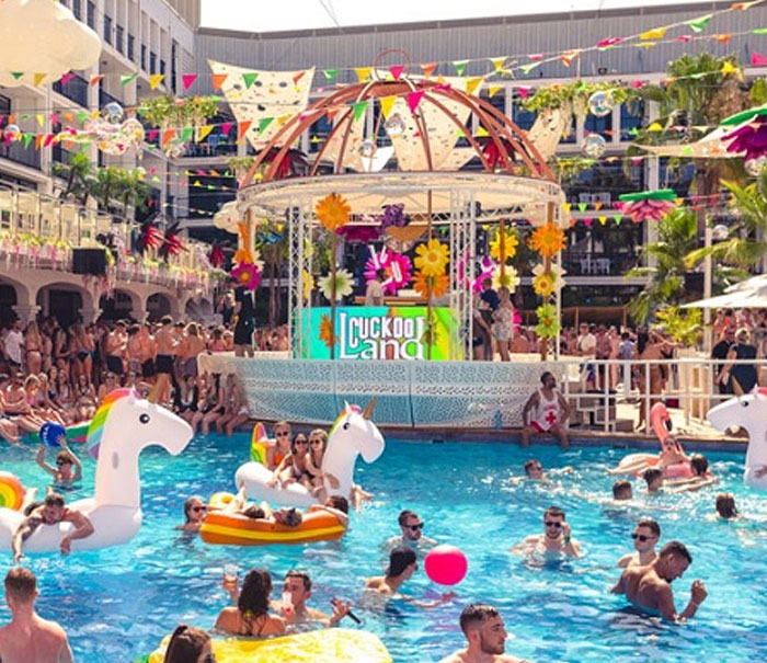 Ibiza rocks pool party calendario and information