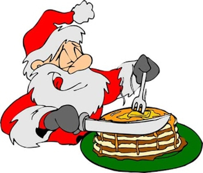 Pancakes Santa Breakfast