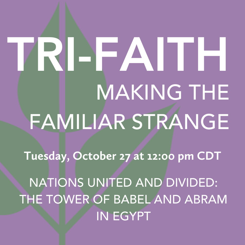 Picture of Making the Familiar Strange is an opportunity for interfaith dialogue that inspires people of different religious and nonreligious backgrounds to read the same text together.