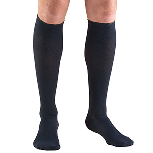 Men's Knee High Dress Socks in Navy