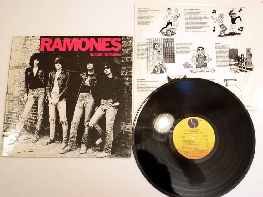 Ramones   - Rocket To Russia Original 1st press 1977 Sire SR 6042 with Lyric Insert