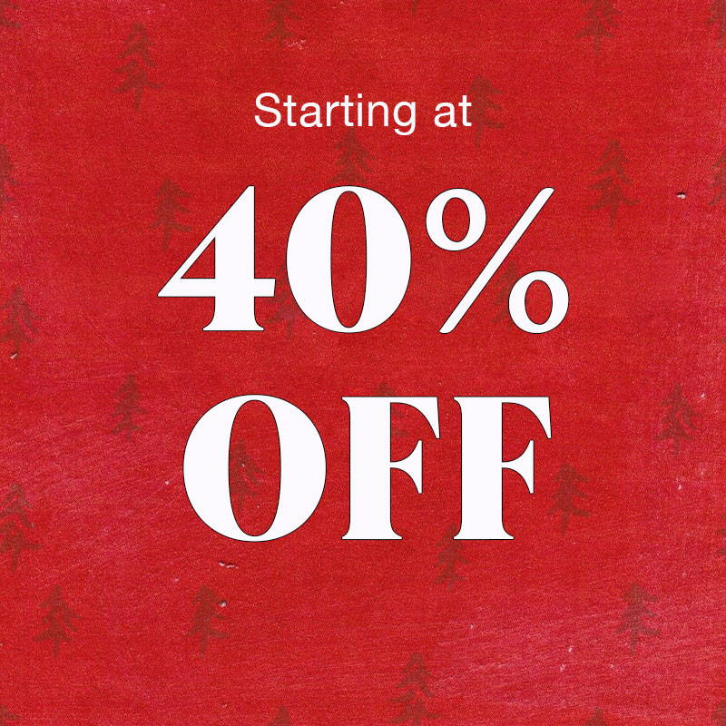 Shop Sale Starting at 40% OFF