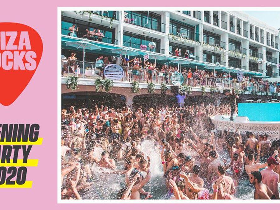 cartel opening party Ibiza rocks, opening Ibiza 2020