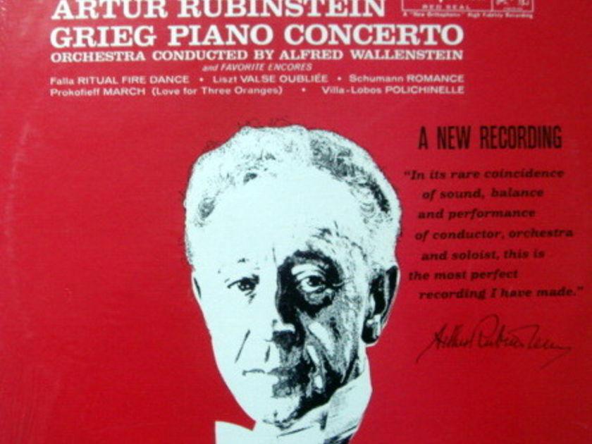 ★Sealed★ RCA LIVING STEREO / RUBINSTEIN, - Grieg Piano Concerto, Original!
