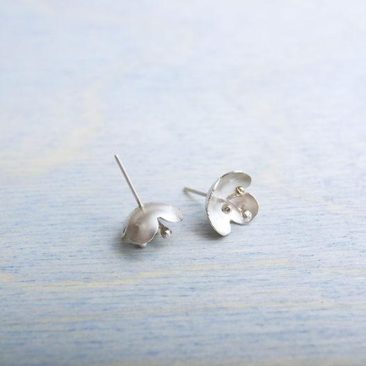 Сережки ботанические с тычинками из серебра