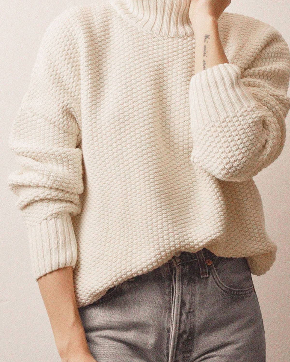 Organic cotton knitted jumper