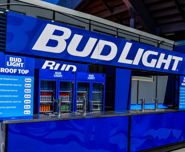 Exterior Vinyl Wrap - Bud Light Concession Stand