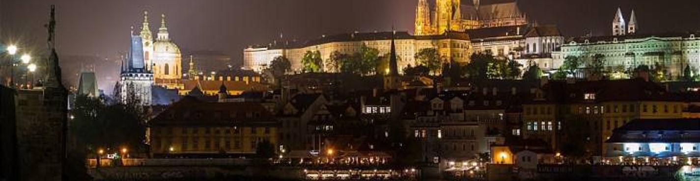 Ночная Прага (на автомобиле)