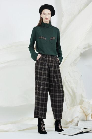 Клетчатые шерстяные брюки