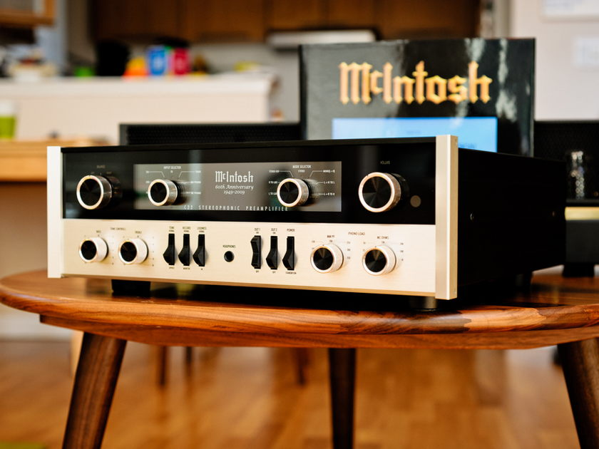 Mcintosh McIntosh 60th Anniversary System C22 and MC75 mono set with Book Remote and OBM