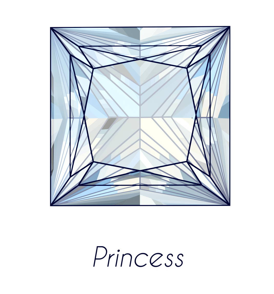 diamond princess cut picture