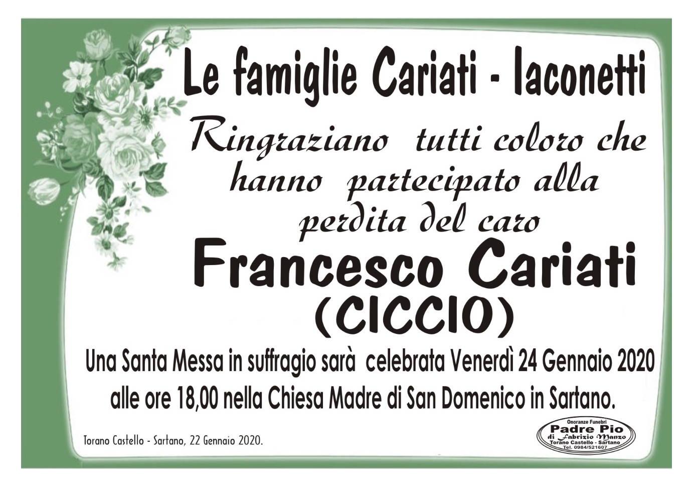 Le Famiglie Cariati ~ Iaconetti