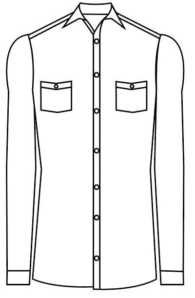 TailorMate | Skjorte med to lomme med knapper