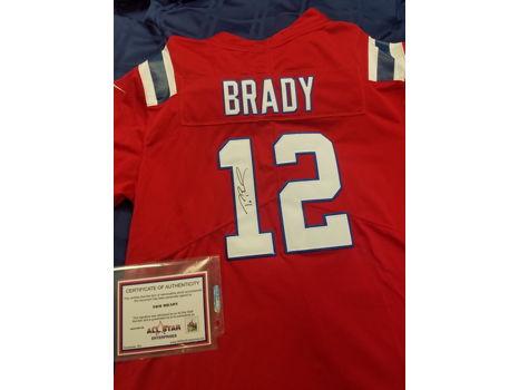 Signed Tom Brady Jersey