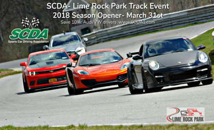 SCDA- Lime Rock Park- Season Opener! March 31st