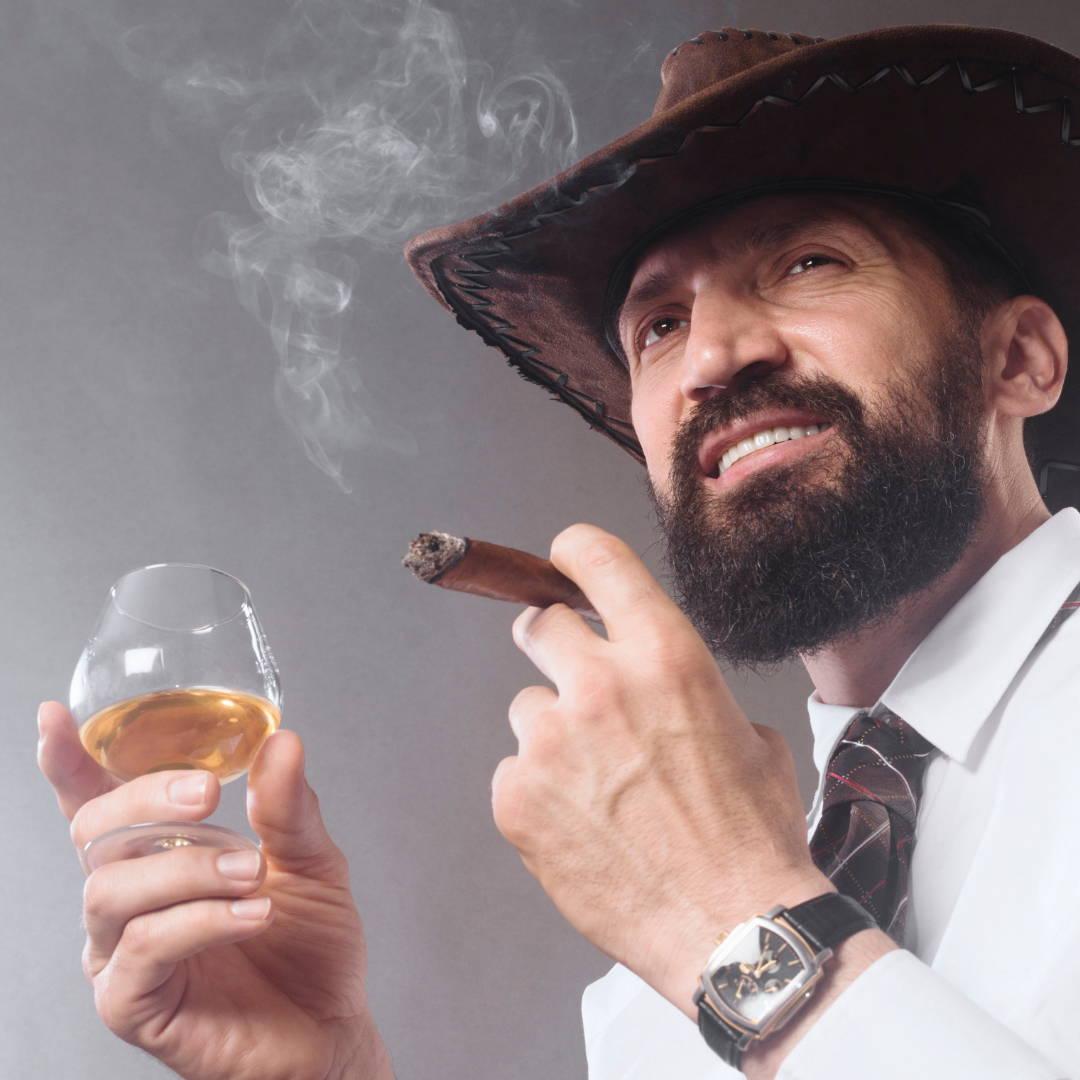 Man Made Beard Care, Whisky & Cigar the best life.