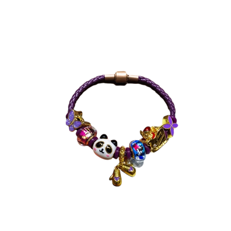 bracelet panda violet