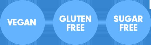 vegan, gluten free, sugar free