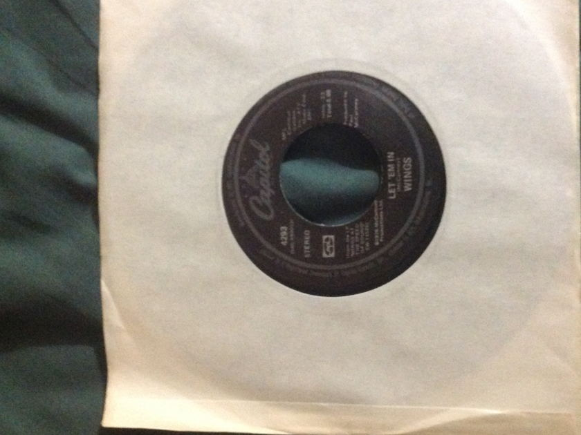 Wings - Let 'Em In 45 NM Black Capitol Label