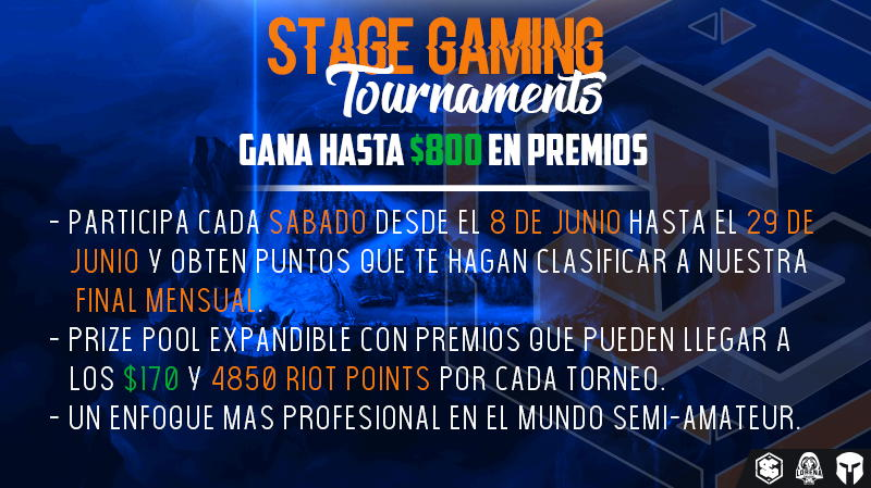 LAN | 5° Stage Gaming Tournament | Sáb, 29 Jun. 2019 - 20:00HRS COL [GMT-5]  - Overview