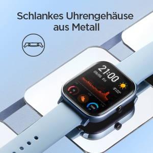Amazfit GTS - Schlankes Uhrengehäuse aus Metall