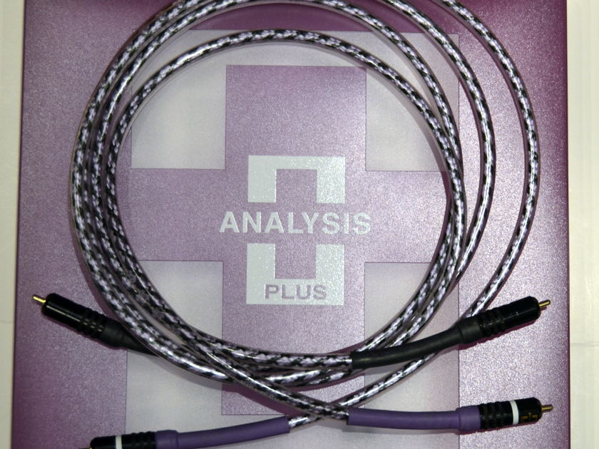 Analysis Plus  Solo Crystal Oval interconnects 1.5 m locking RCA