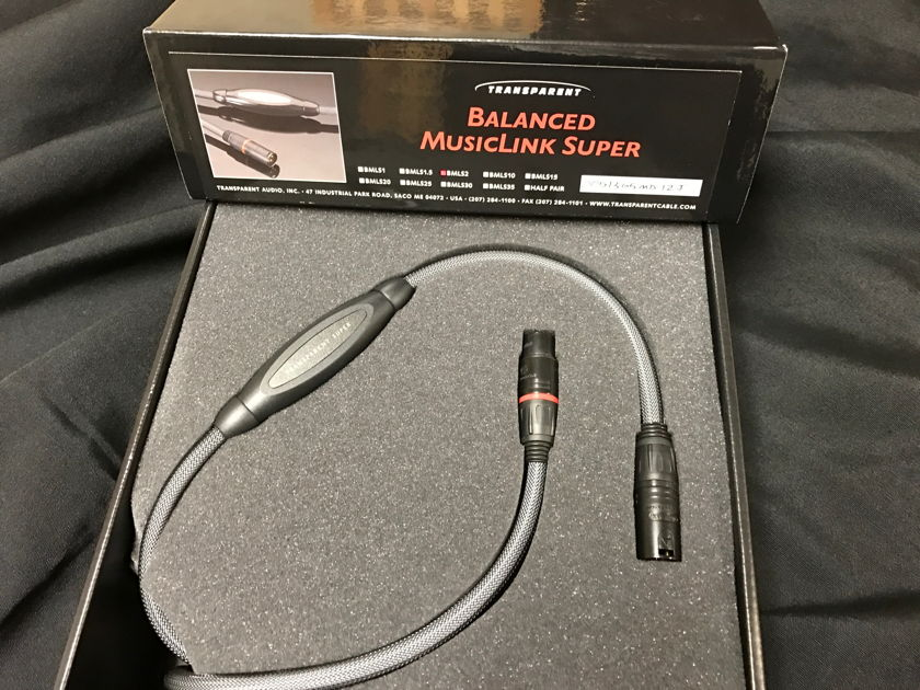 Transparent Audio  Gen 5 Balanced Musiclink Super 2 Meter