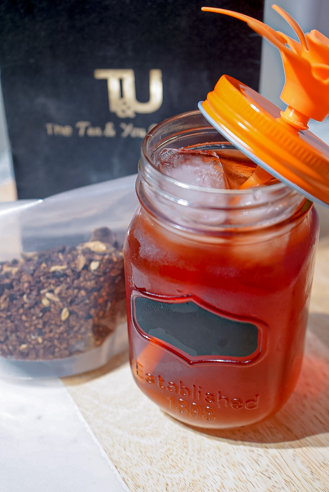 The One about the Rooibos Hibiscus Iced Tea