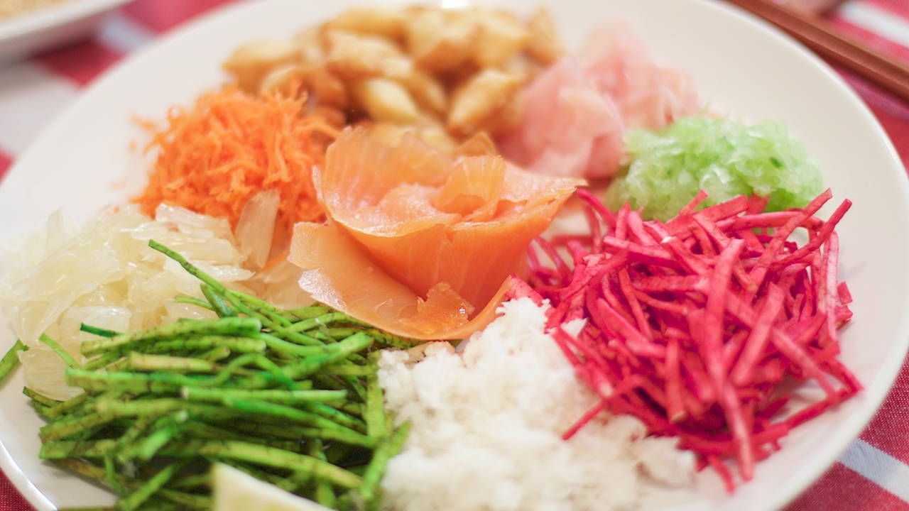 Yee Sang (Prosperity Raw Fish Salad)