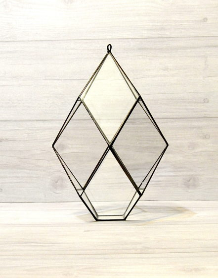 "Подвесной геометрический флорариум ""Кварц""."