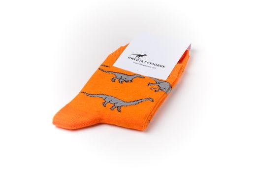 Носки динозавровые оранжевые