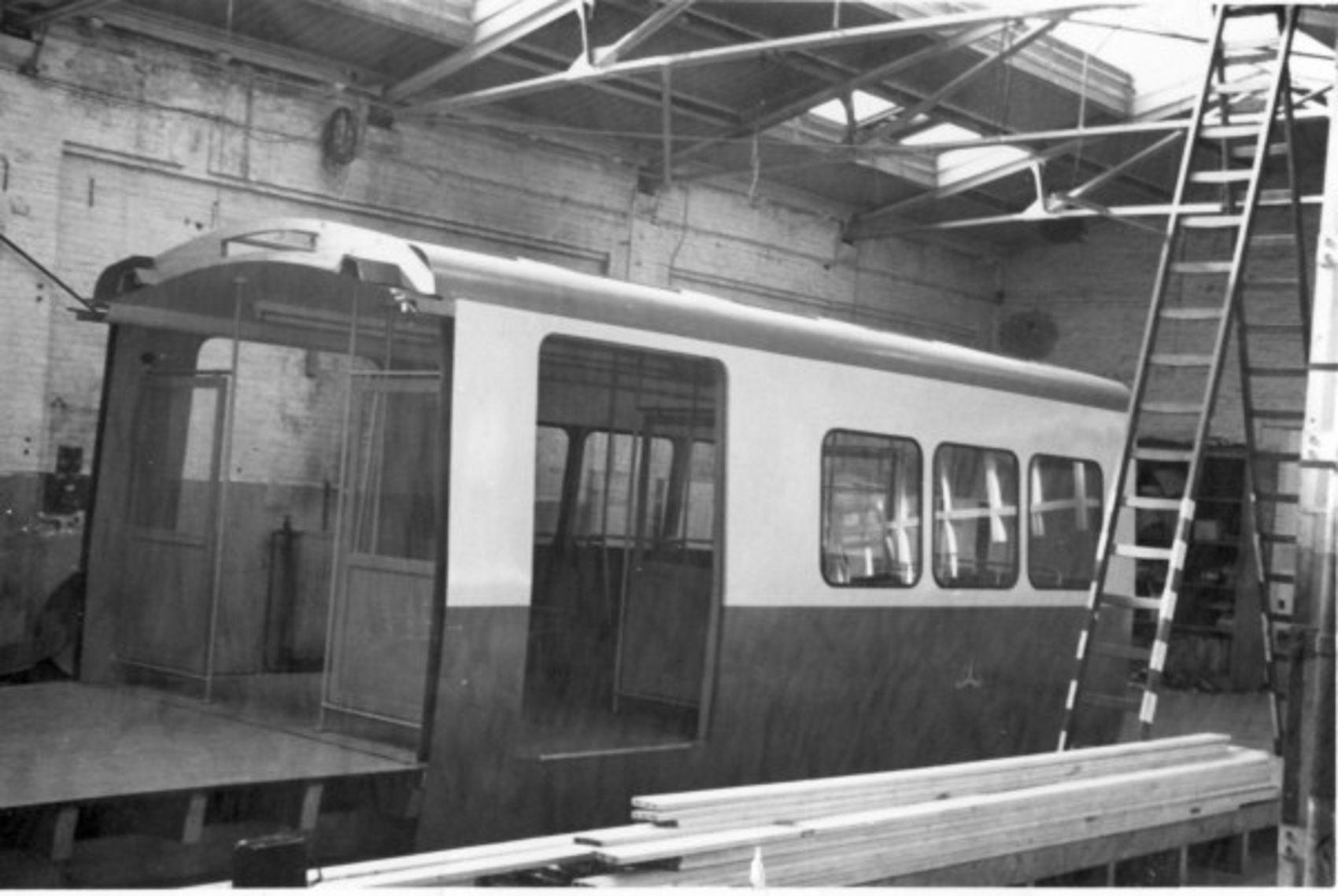 Mock-up in de Centrale Werkplaats in de Tollenstraat - 1968.