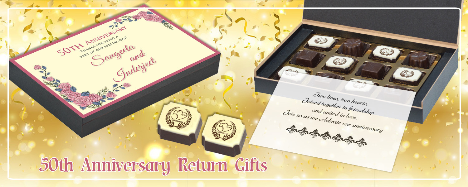 Return Gifts For 25th Wedding Anniversary: Return Gift Ideas For 50th Wedding Anniversary In India