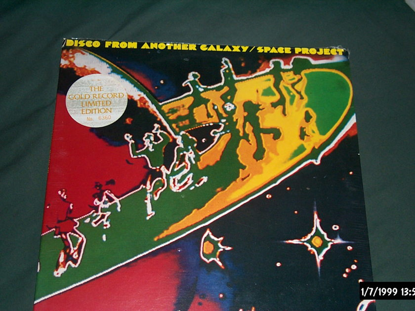 Space Project - Disco From Another Galaxy Gold vinyl Sealed LP
