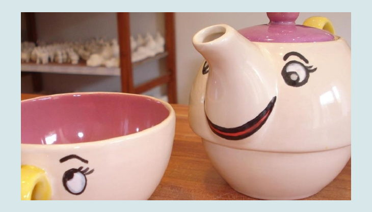 kreativ cafe momentmal tasse und kanne