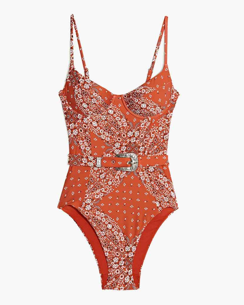 Onia X WeWoreWhat Danielle Swimsuit - Rooibos  £149