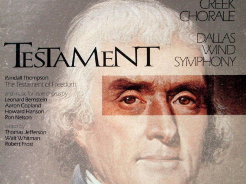 ★Audiophile★ Reference Recordings / TURTLE CREEK CHORALE, - Testament, MINT, 2 LP Set!