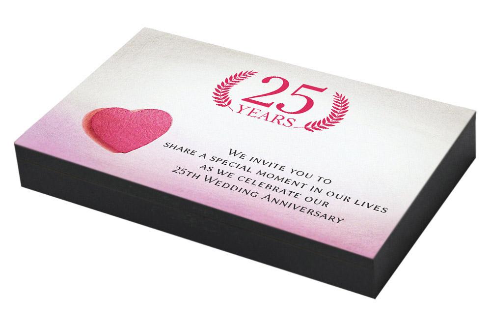 Lovely Heart Invitation for 25th Anniversary