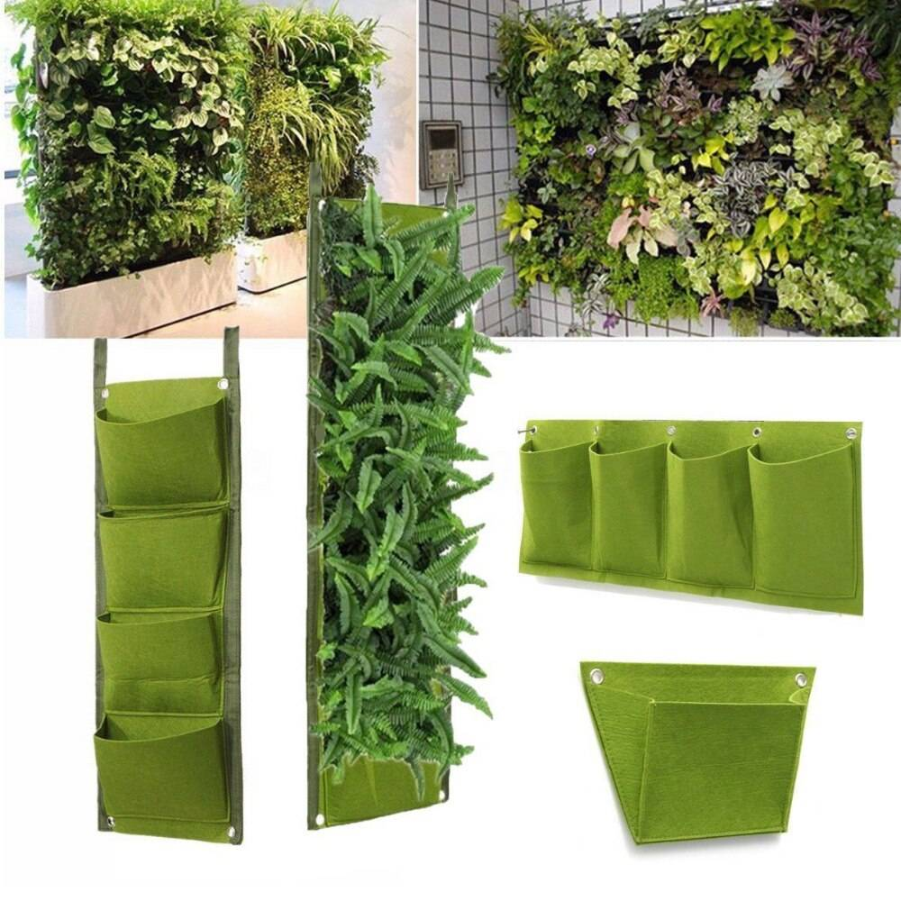 4 pockets-flower-plantation-suspended-bags-garden-wall-plants-green-basket-gardenwall-details-2