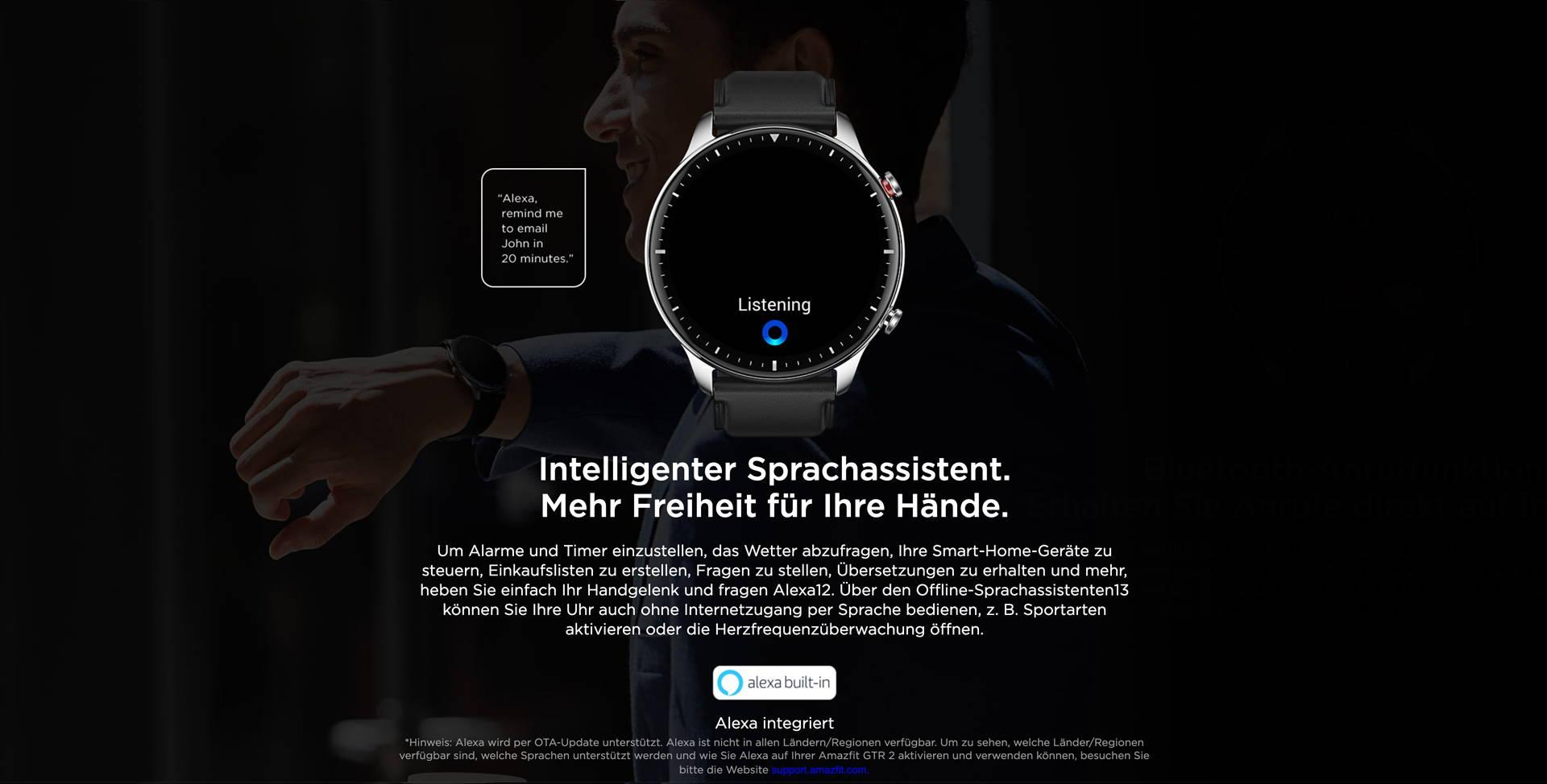 Amazfit GTR 2 - Sprechen Sie mit und mit Hilfe Ihrer Uhr.