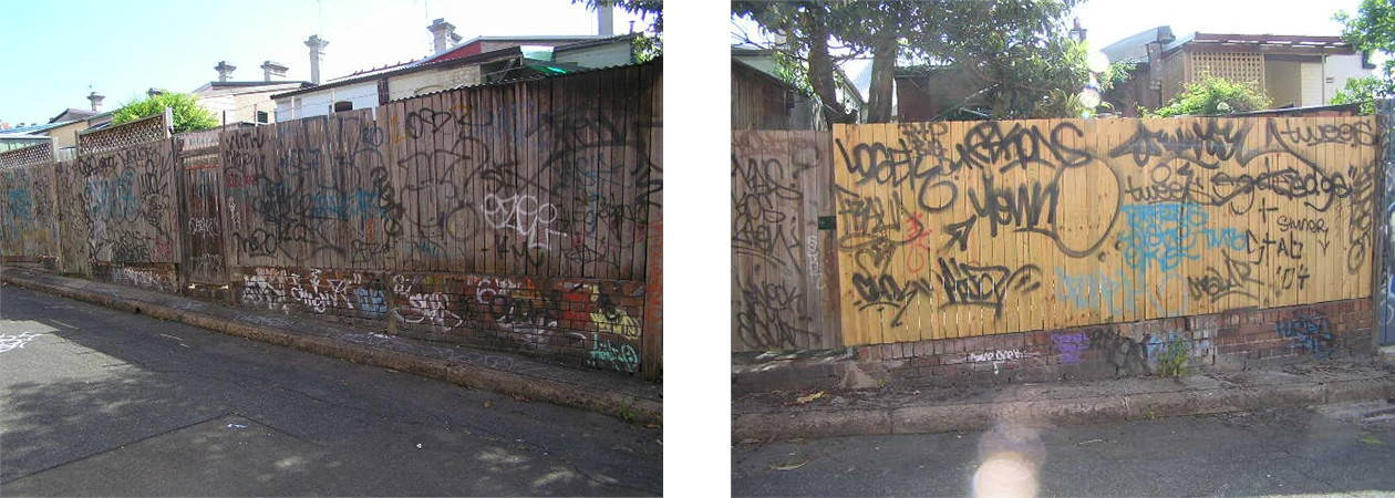 remove graffiti from wooden fence
