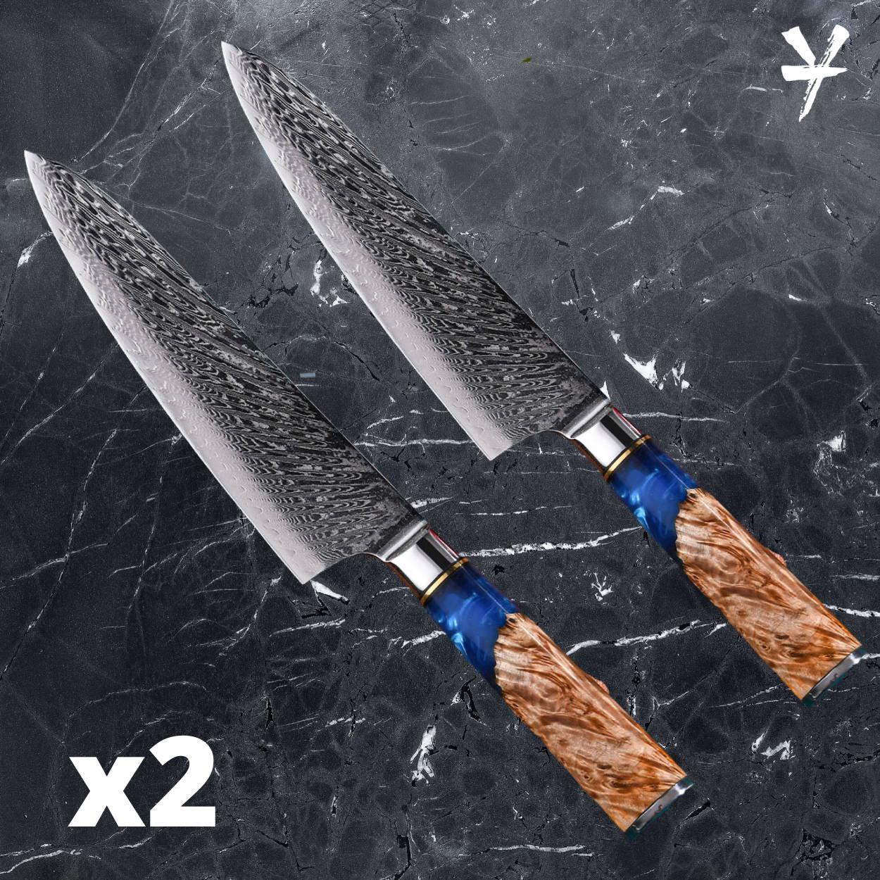 Damascus steel knife set, japanese chef knife, best japanese kitchen knife, damascus chef knife