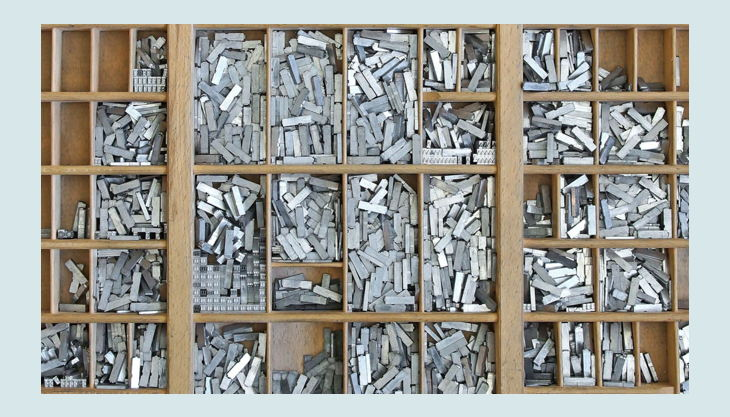stiftung werkstattmuseum für druckkunst leipzig stanz stempel sortiement