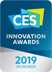 A badge of CES Innovation Awards 2019