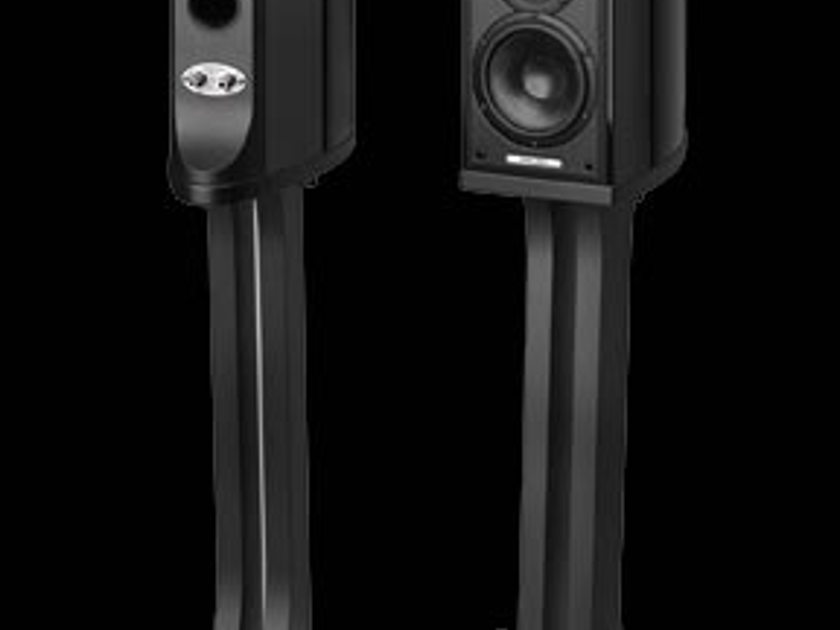 Sonus Faber Liuto Monitors with stands, piano black.  demo's