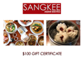 Sangkee Asian Bistro Gift Certificate